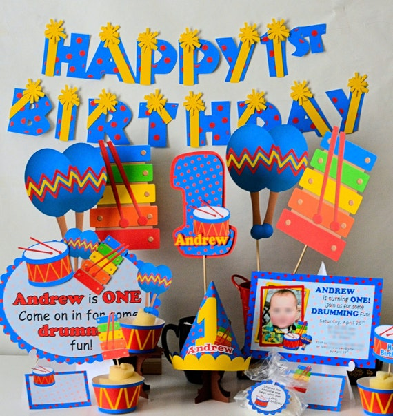 Music 1st Birthday Party Decorations Musical Baby Shower Music