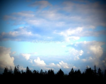 Clouds on a Fall Day Photograph with Lomo effect