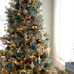 Coastal Large Star Tree Topper White Christmas Natural Glitter Starfish Holiday Decor Triple Starburst Beach Knobby Finger Xmas Nautical DIY