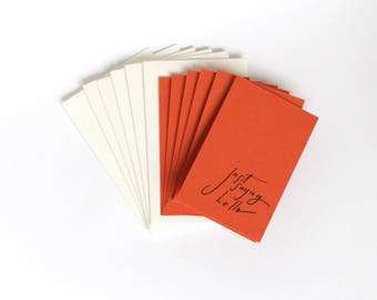 Little Card Set of 6, Just Saying Hello, 2x3.5 with Envelope