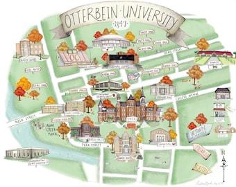 Campus Map Etsy