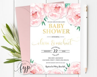 Coed baby shower etsy couples shower invitation coed baby shower invitation couples baby shower invite shabby chic baby shower baby girl baby boy filmwisefo