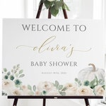 Fall Baby Shower Welcome Sign Template, Editable Welcome Sign, 100% Editable Text, Instant Download