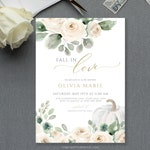 Fall In Love Bridal Shower Invitation Template, Autumn Bridal Invite, TRY BEFORE You BUY   Editable Instant Download