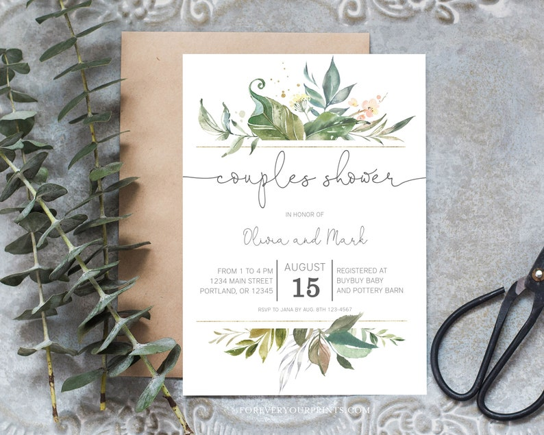Printable Couples Shower Invitation Template Couples Wedding Shower Invite