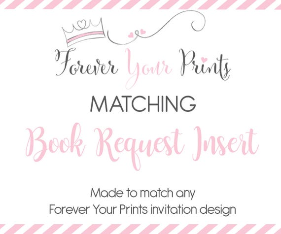 book request insert cards baby shower insert cards invitation