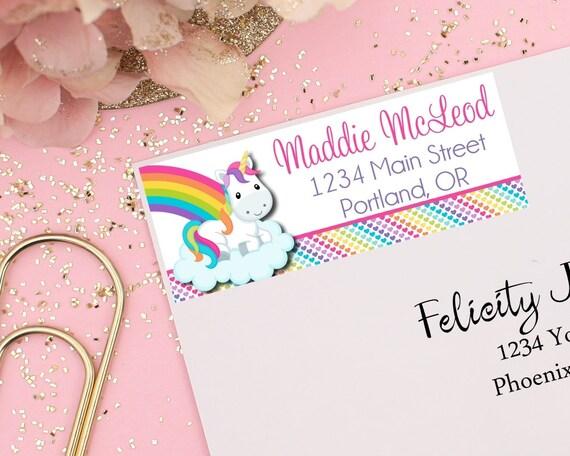 unicorn return address labels mailing address labels unicorn