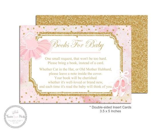 tutu book request insert cards tutu baby shower insert cards baby