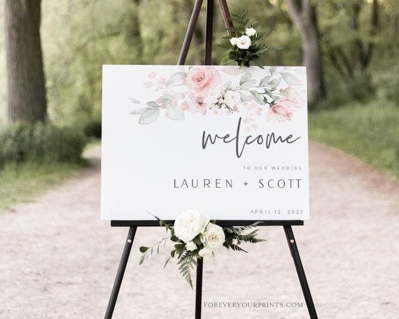 Minimalist Wedding Welcome Sign Template Wedding Signage Wedding Decor Digital Download Editable and Printable