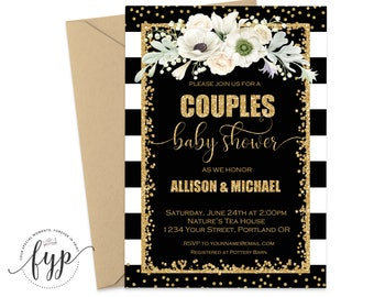 Couples Shower Invitation Printable Coed Baby Shower Invitation