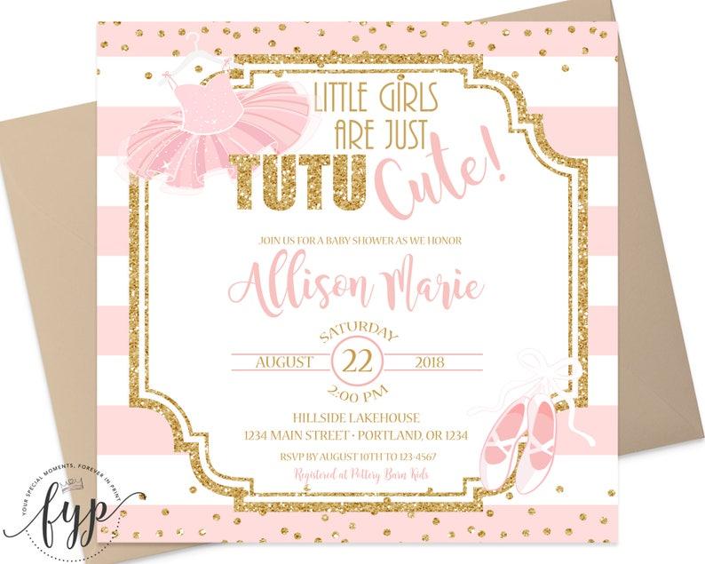 Tutu Baby Shower Invitations Baby Shower Invitation Girl Etsy