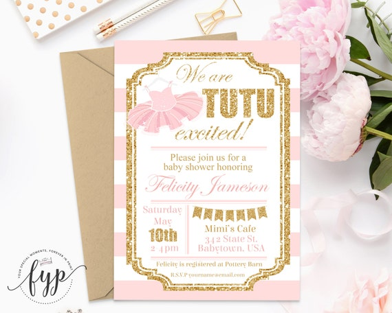 Tutu baby shower invitations girls baby shower invitations il570xn filmwisefo