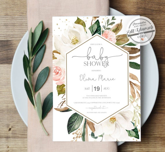 graphic regarding Printable Baby Shower Invitation Templates called Printable Child Shower Invitation Woman Editable Invitation