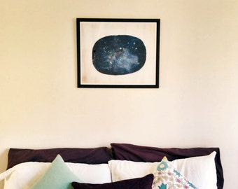 Uncharted No.1 // Reproduction Print, Abstract, Universe, Space, Stars, Modern Art, Giclee, Digital Print, Summer Night Sky