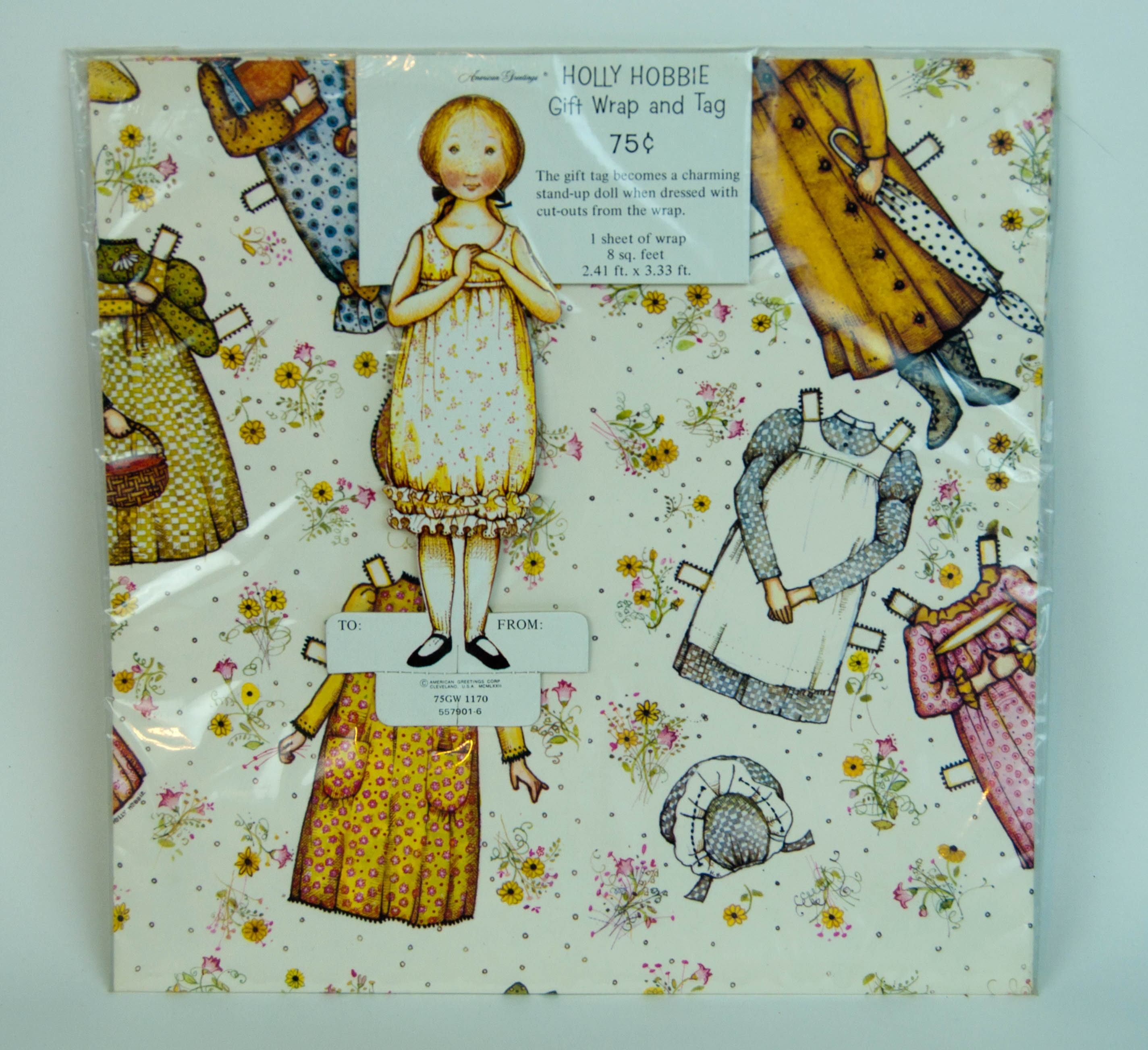 1972 Holly Hobbie Paper Doll Gift Wrap Tag Pack American Etsy