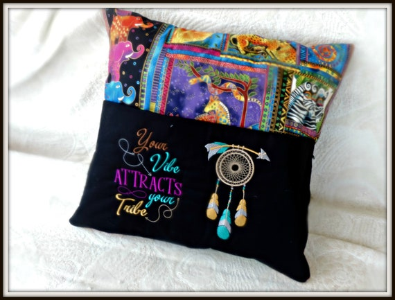 Tribe Pocket book pillow, my tribe pillow, your tribe,  attraction quote,  dreamcatcher pillow, book lover gift, bookish gift