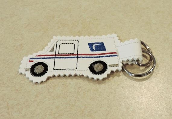 Mail truck key chain, usps keychain, postal worker gift, postal truck keychain, post office gift, mail carrier gift, mail truck key fob