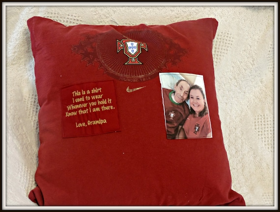 memory shirt pillow, pillow from t-shirt, loss of dad, grievance gift, memorial gift dad, grandpa memorial, loss of son, in memory of