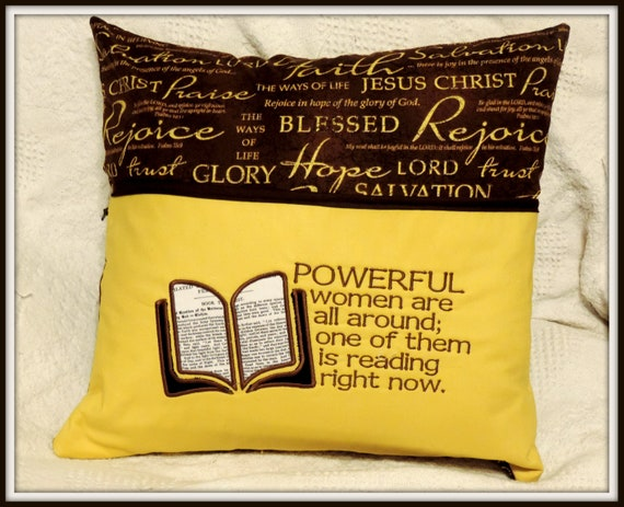 Christian reading pillow, bible pillow, religious gift, gift for pastor, clergy gift, minister gift, inspirational gift, Christian gifts