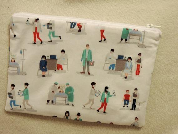 doctor organizer bag, nurse pouch, bsn gift, Medical gift, hospital worker gift, lab tech bag, medical assistant bag, medical student gift