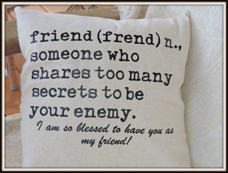 friend definition pillow, your friend pillow, best friend gift, bff
