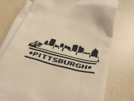 city skyline towel, Pittsburgh gift, your city gift, hometown gift, address towel, agent closing gift, housewarming gift, new home gift
