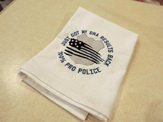 back the blue towel, blue lives matter towel, support police towel, pro police gift, police hostess, support the police gift, patriotic gift