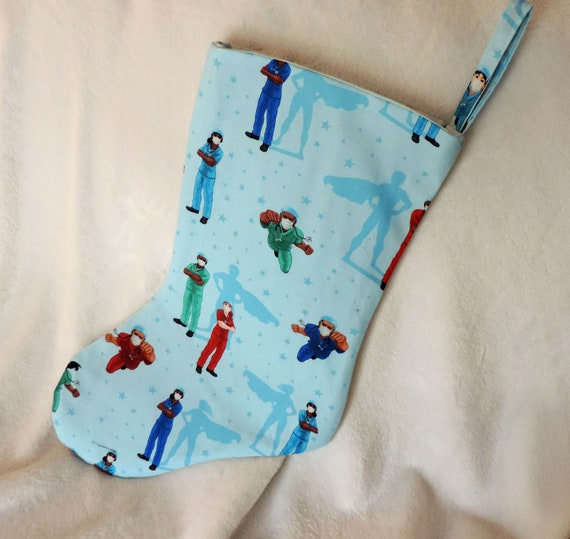 Medical Christmas stocking, unique Christmas stocking, stocking for doctor, gift for nurse, , gift for doctor, bsn gifts