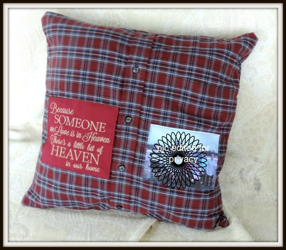 memory shirt pillow, sympathy gift, loss of dad, loss of son, grief gift, grievance gift, memorial gift dad, grandma memorial