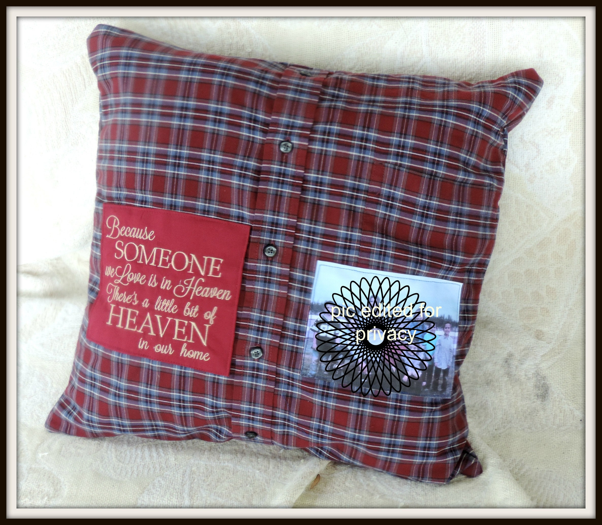 3a02a6b259 memory shirt pillow, sympathy gift, loss of dad, loss of son, grief gift ...