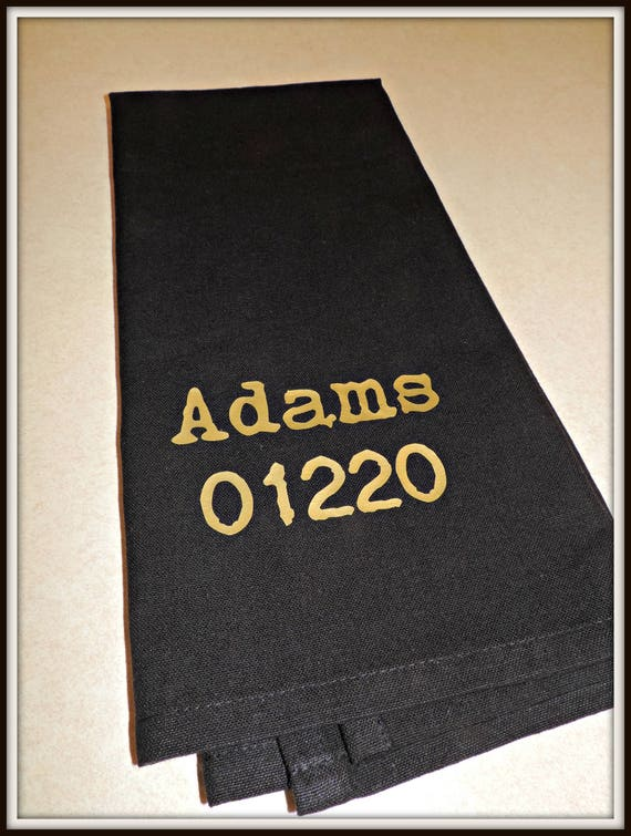 your address towel, zip code towel, your city towel, address dish towel, agent gift, closing gift, housewarming gift, typography towel