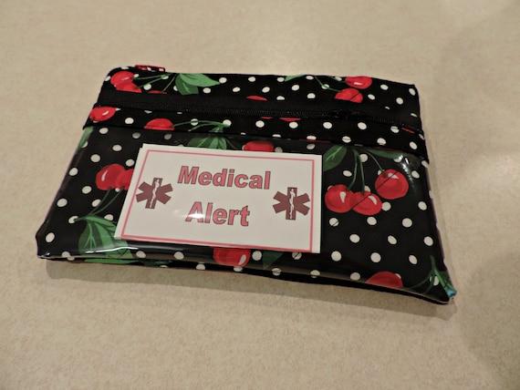 EpiPen Case, epipen bag, Insulated bag, Cherry pouch, Snack Bag, wet dry bag, clear pocket bag, Water Repellent bag, Travel Medical Bag