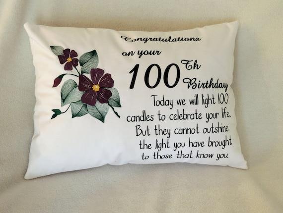 100 birthday gift, 100 birthday idea, Personalized 100th birthday pillow, 1921 birthday,  gift for grandma, born in 1921, best selling item