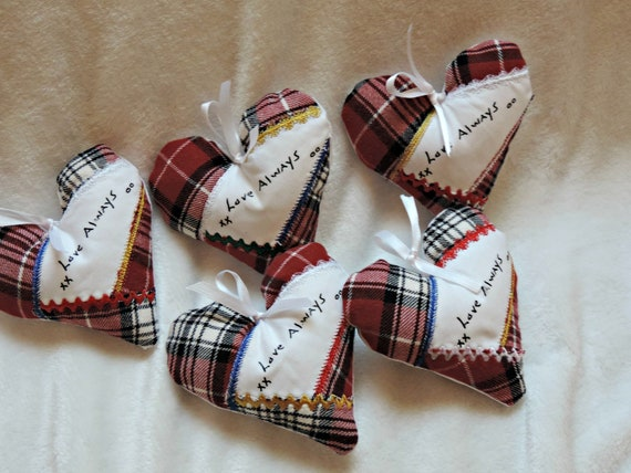 handwriting ornaments, Ornaments made from clothes, memory heart ornament, Keepsake ornaments, memory add on