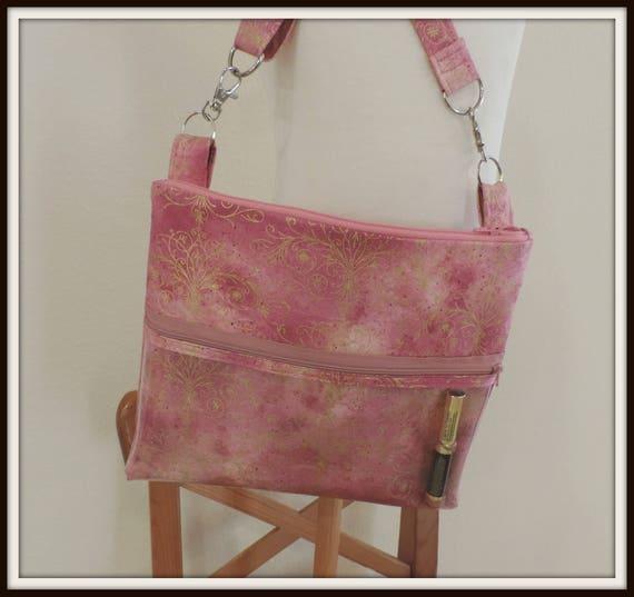 Rose Gold clear pocket bag, catalogue crossbody bag, pin display pocket bag, lipsense rep bag, direct sales purse, catalogue display purse