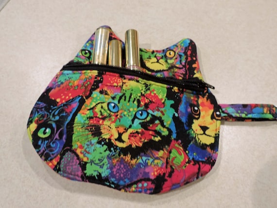 cat pouch, cat Keychain Coin Pouch, Cat bag, cat coin purse, cat purse charm, cat lover gift
