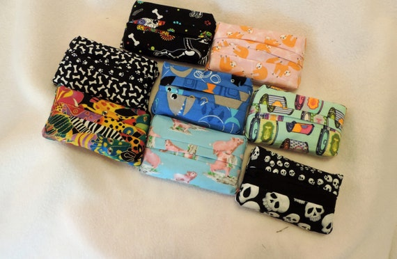 fabric tissue covers, fabric tissue holder, dog themed tissue cover, animal tissue cover, skull tissue cover, sloth tissue cover