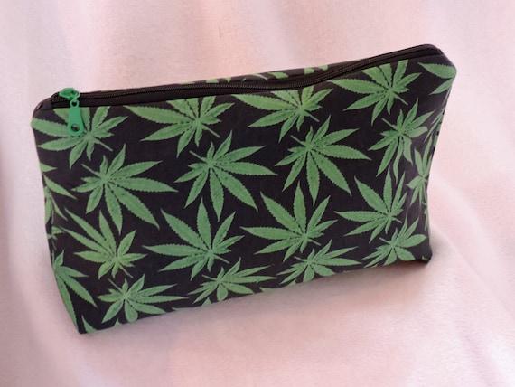 marijuana toiletry bag, pot cosmetic bag, pot travel bag, marijuana 420 bag, stoner gift, cannabis bag, ready to ship bag, last minute gift