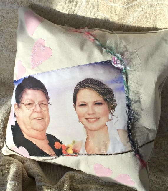 Photo pillow, custom photo pillow, photo memorial pillow, in memory pillow, anniversary gift, wedding picture, family gift, remembrance gift