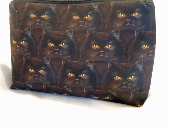 cat toiletry bag, cat cosmetic bag, cat travel bag, cat lover gift, crazy cat lady gift, ready to ship bag, last minute gift