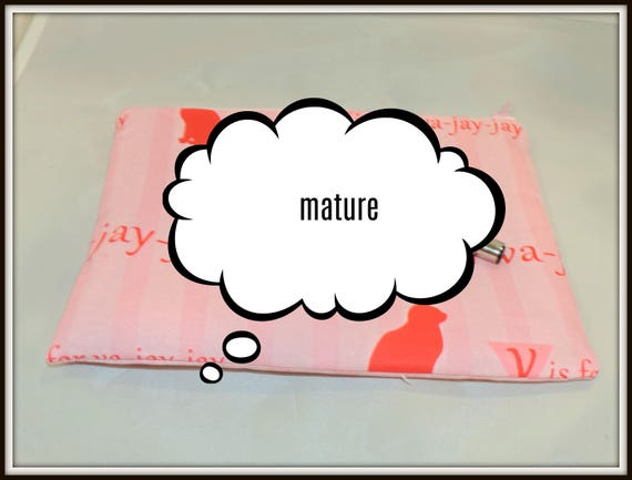 va jay bag, v is for va jay cosmetic bag, pink pussy cat organizer bag, mature, v is for va jay jay, va-jay-jay, sexy girlfriend gift