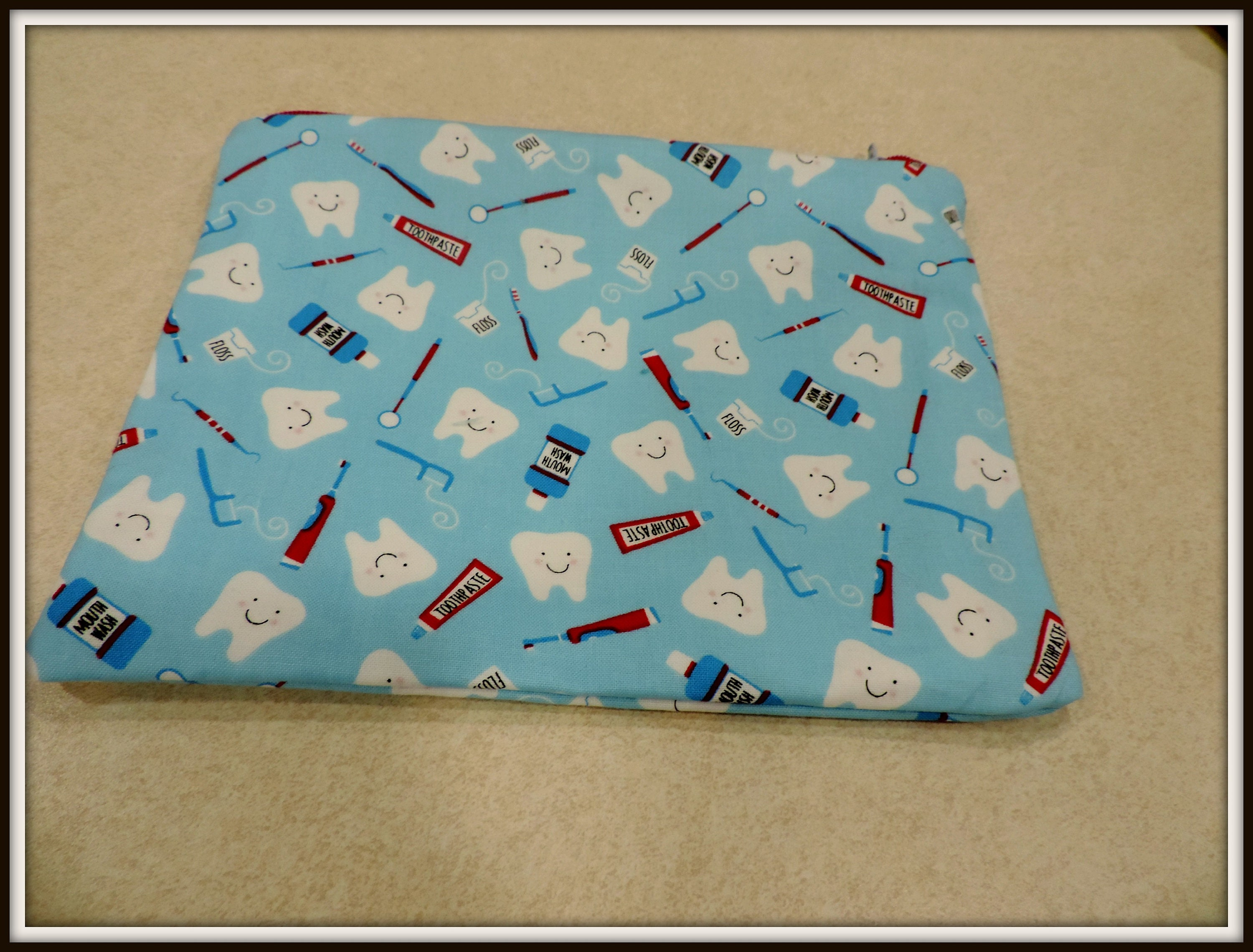 5010fbe25ad4 hygienist pouch, teeth pouch, dentist gift, patient gift, retainer ...