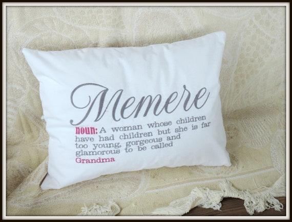 Memere pillow, Grandma definition pillow, Nonna pillow, nonnie, your name grandmother pillow, Lonna Pillow, De De pillow,