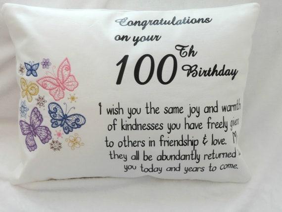 100th birthday gift, milestone birthday gift, Personalized 100th birthday pillow, 1921 birthday,  gift for grandma, born in 1921