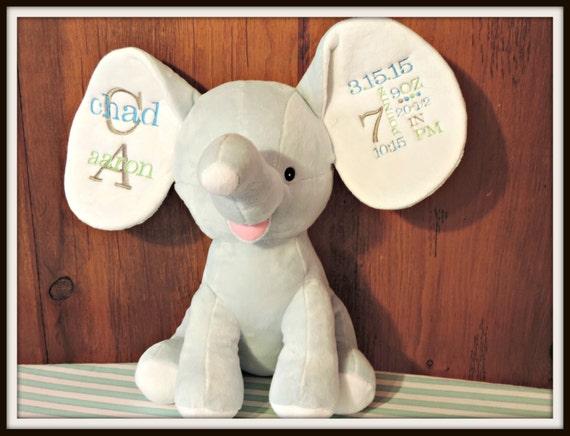 Dumble Birth Announcement Big Ear Elephant Stuffed Animal Etsy