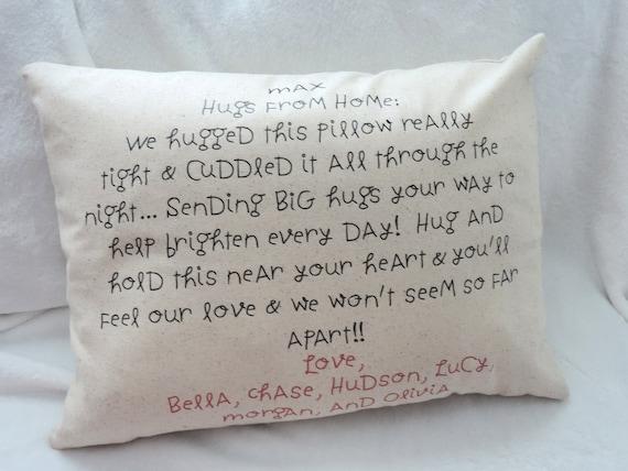 air hug pillow, virtual hug, quarantine gift, personal gift from home, isolation gift, nursing home gift, long distance relationship gift
