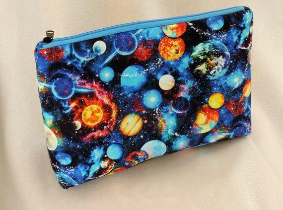 celestial cosmetic bag, astronomy bag, cosmic toiletry bag, STEM, Science girl, math & science, science gift, science teacher, science lover