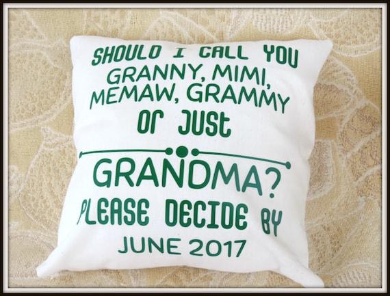 new grandma pillow, Pregnancy reveal gift, grandma pillow, new grandchild pillow, Mimi pillow, new baby pillow, new grandma decor