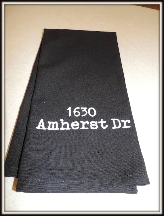 zip code dish towel, zip code towel, your city towel, zip code gift, address dish towel, real estate agent closing gift, housewarming gift