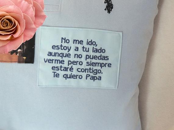 spanish memory shirt, espanol memory shirt,esta una camisa, gift for loss of dad, spanish memorial gift, in memory of dad